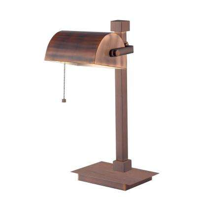 Welker 16 in. Vintage Copper Desk Lamp