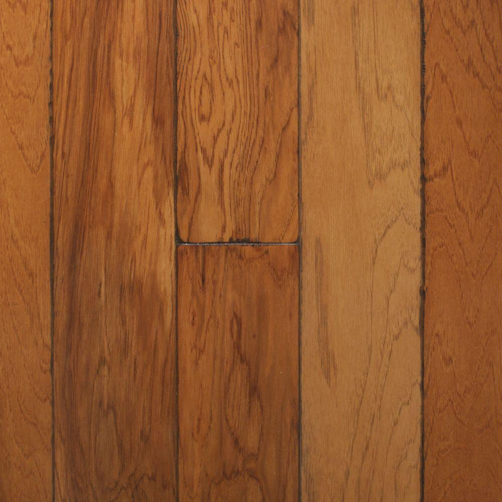 Heritage mill artisan hickory sepia 3 8 in x 4 3 4 in for Engineered hardwood flooring