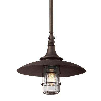 Allegany 1-Light Centennial Rust Outdoor Pendant