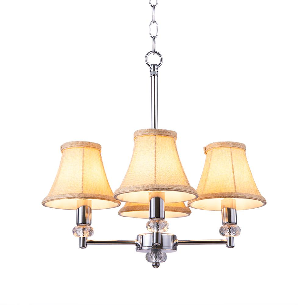 Casainc 3 In X 6 In X 5 In Linen Bell Lampshades Chandelier Shades Xd Lp Linen The Home Depot