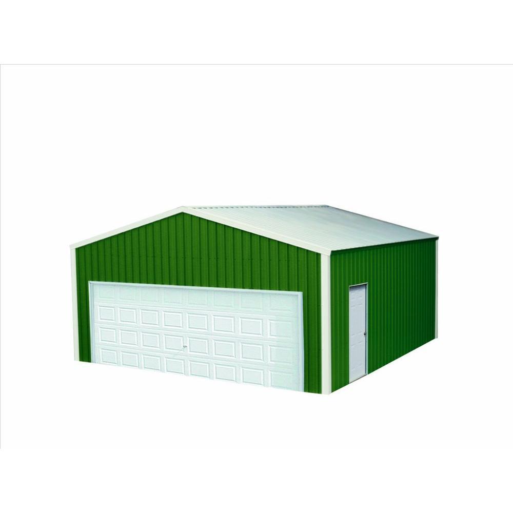 Versatube 20 ft x 20 ft x 8 ft garage vs2202008516gw for Garage planner home depot