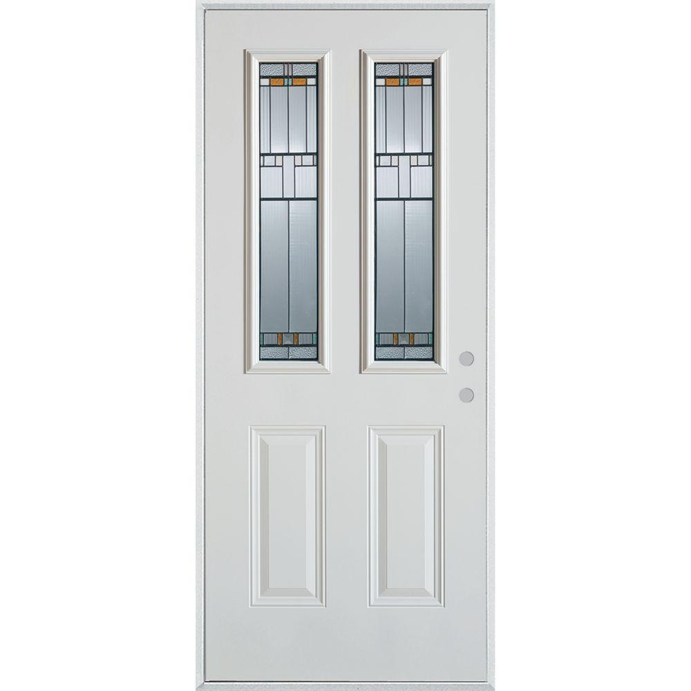 Stanley Doors 32 In X 80 In Architectural 2 Lite 2 Panel Painted