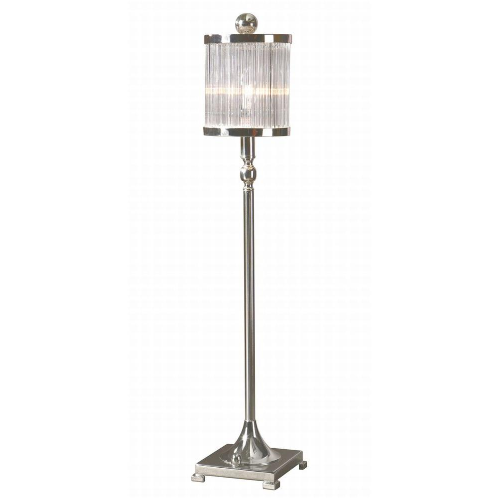 Global Direct 32 in. Silver Plated Buffet Lamp