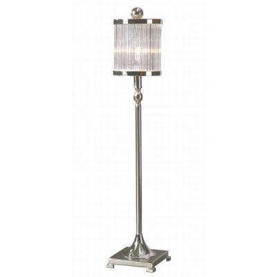 32 in. Silver Plated Buffet Lamp