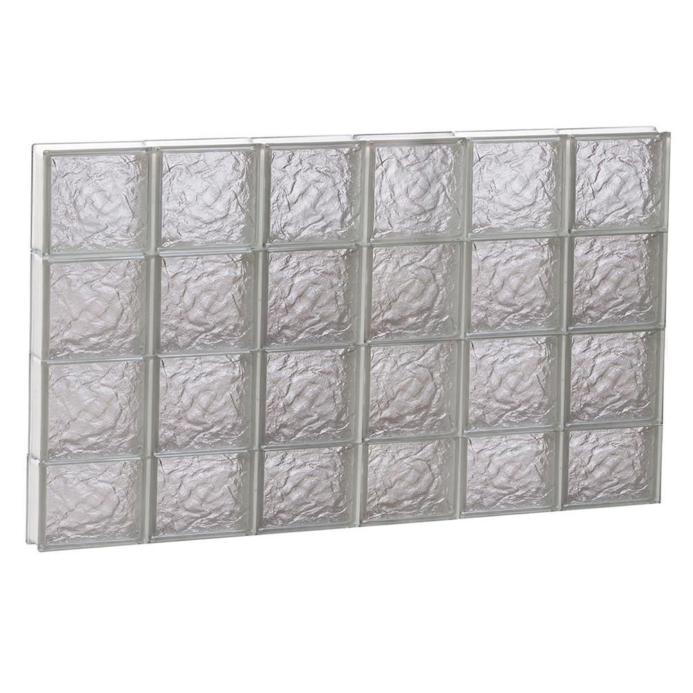Clearly Secure 46.5 in. x 29 in. x 3.125 in. Ice Pattern Non-Vented ...