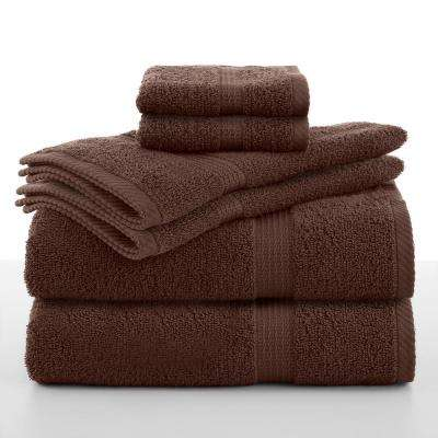 Essentials 6-Piece Cotton Towel Set in Demitasse
