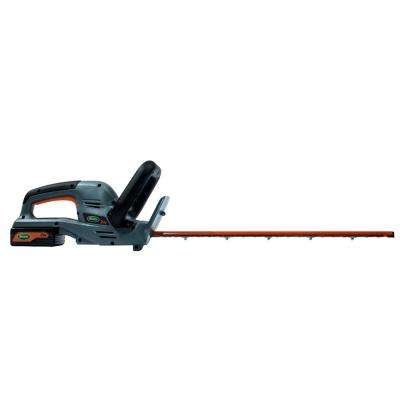 22 in. 24-Volt Electric Cordless Hedge Trimmer - Battery and Charger Included