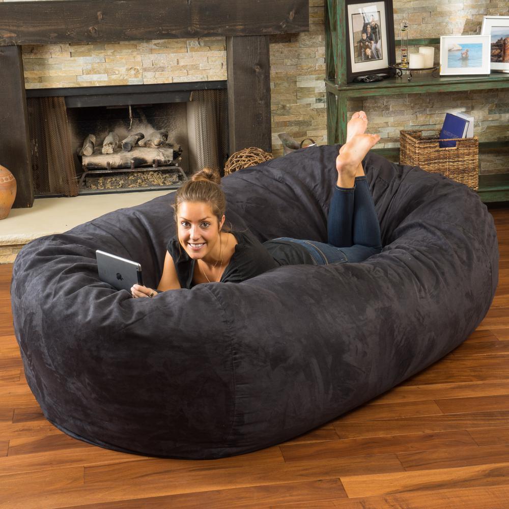 Superb Noble House Larson Black Microfiber Synthetic Suede 8 Foot Machost Co Dining Chair Design Ideas Machostcouk