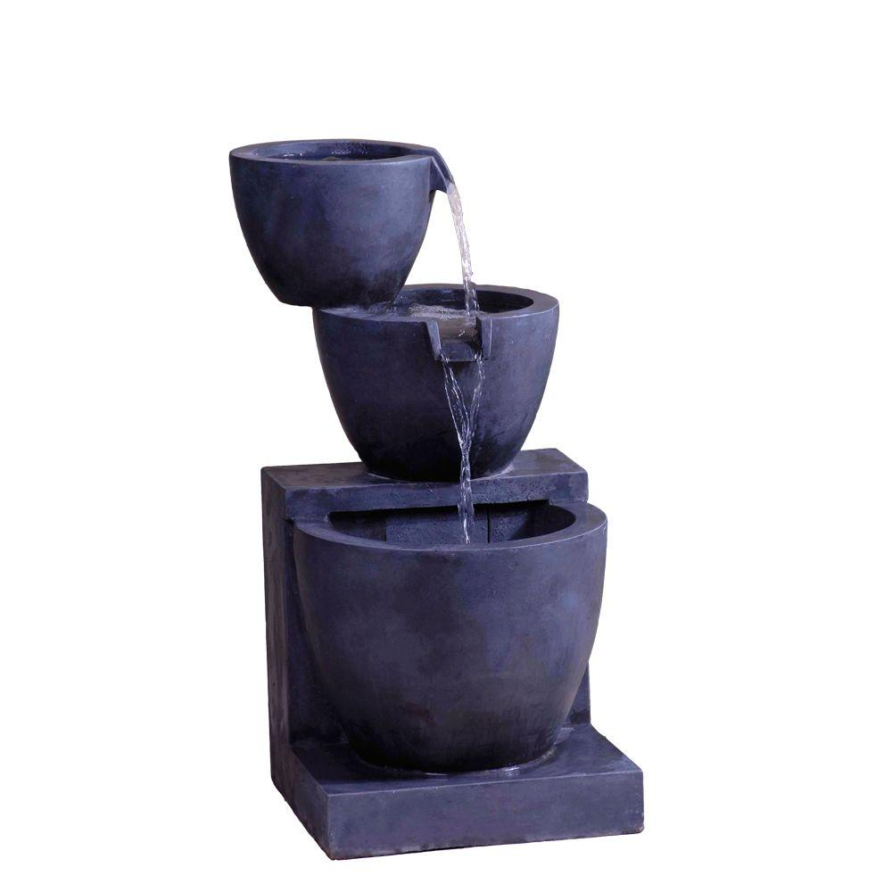 Fountain Cellar Modern Tier Bowls Indoor/Outdoor Water Fountain