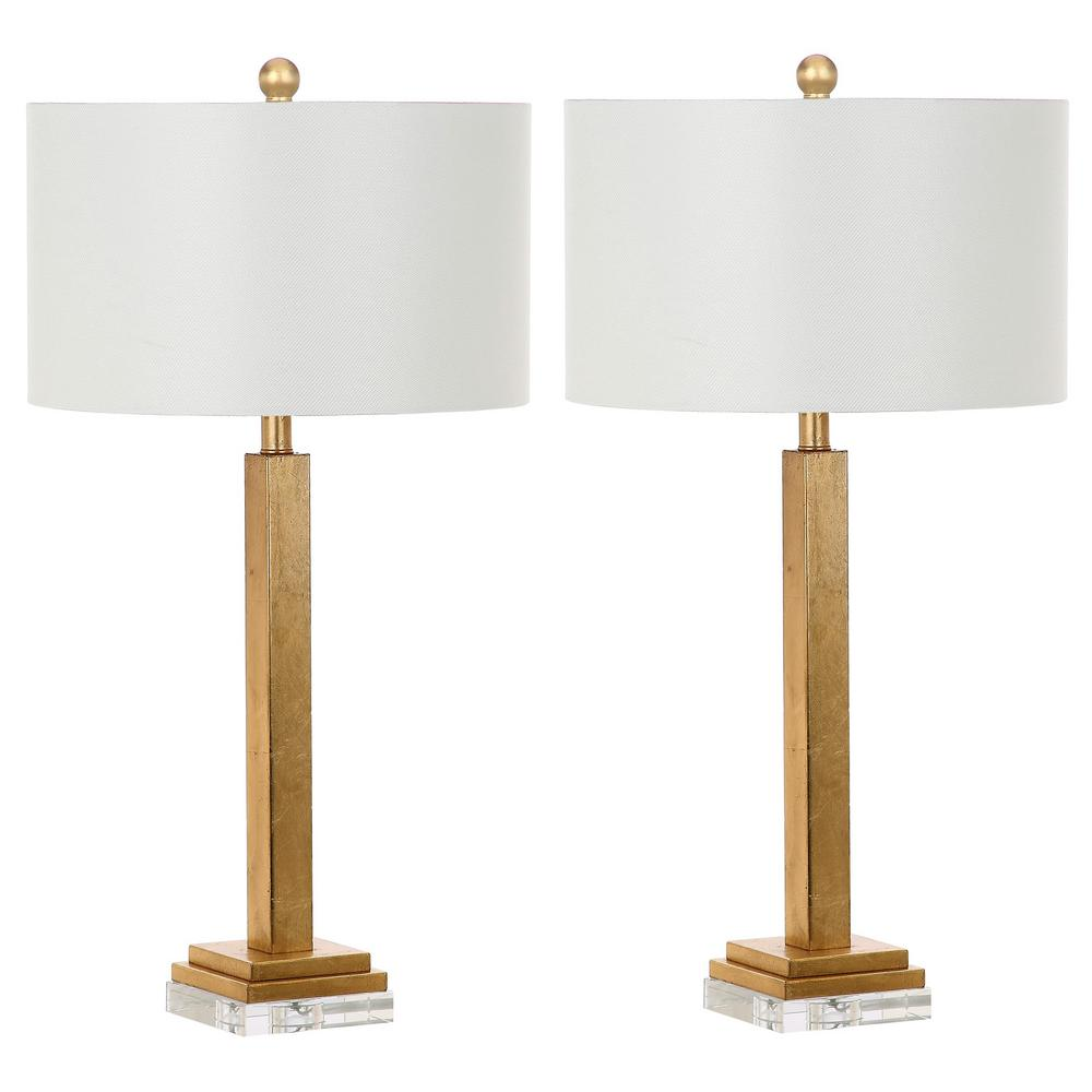 Safavieh perri 30 in gold crystal base table lamp set of 2 gold crystal base table lamp set of 2 aloadofball Gallery