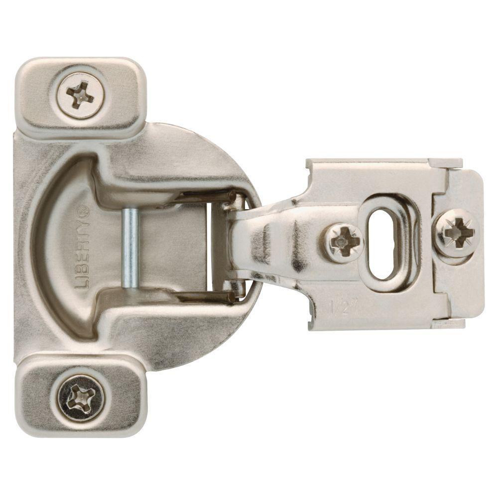 Liberty 35 mm 105-Degree 1/2 in. Overlay Cabinet Hinge (1-Pair)