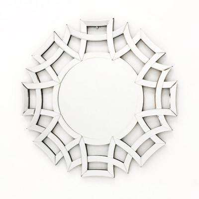 31.5 in. x 31.5 in. The Far East Round Wall Mirror for Interior