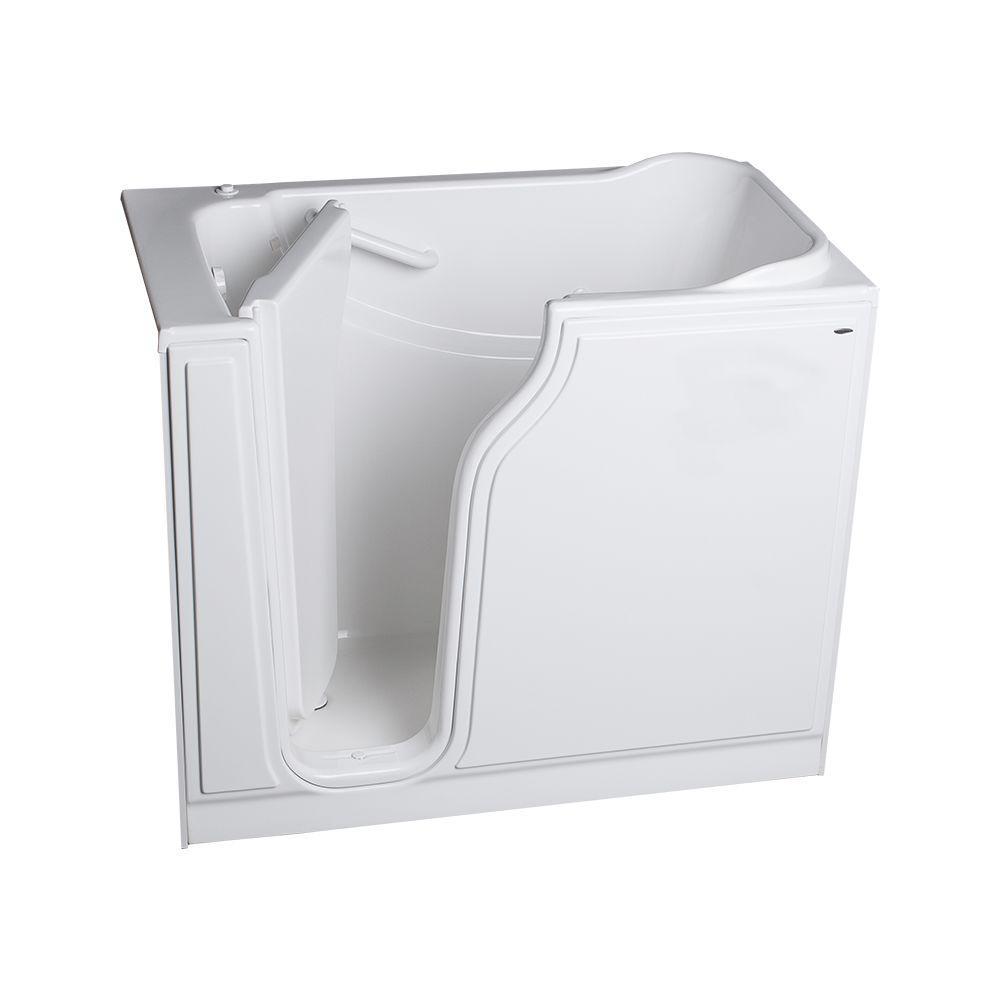 American Standard Gelcoat Standard Series 52 in. x 30 in. Walk-In Whirlpool Tub in White