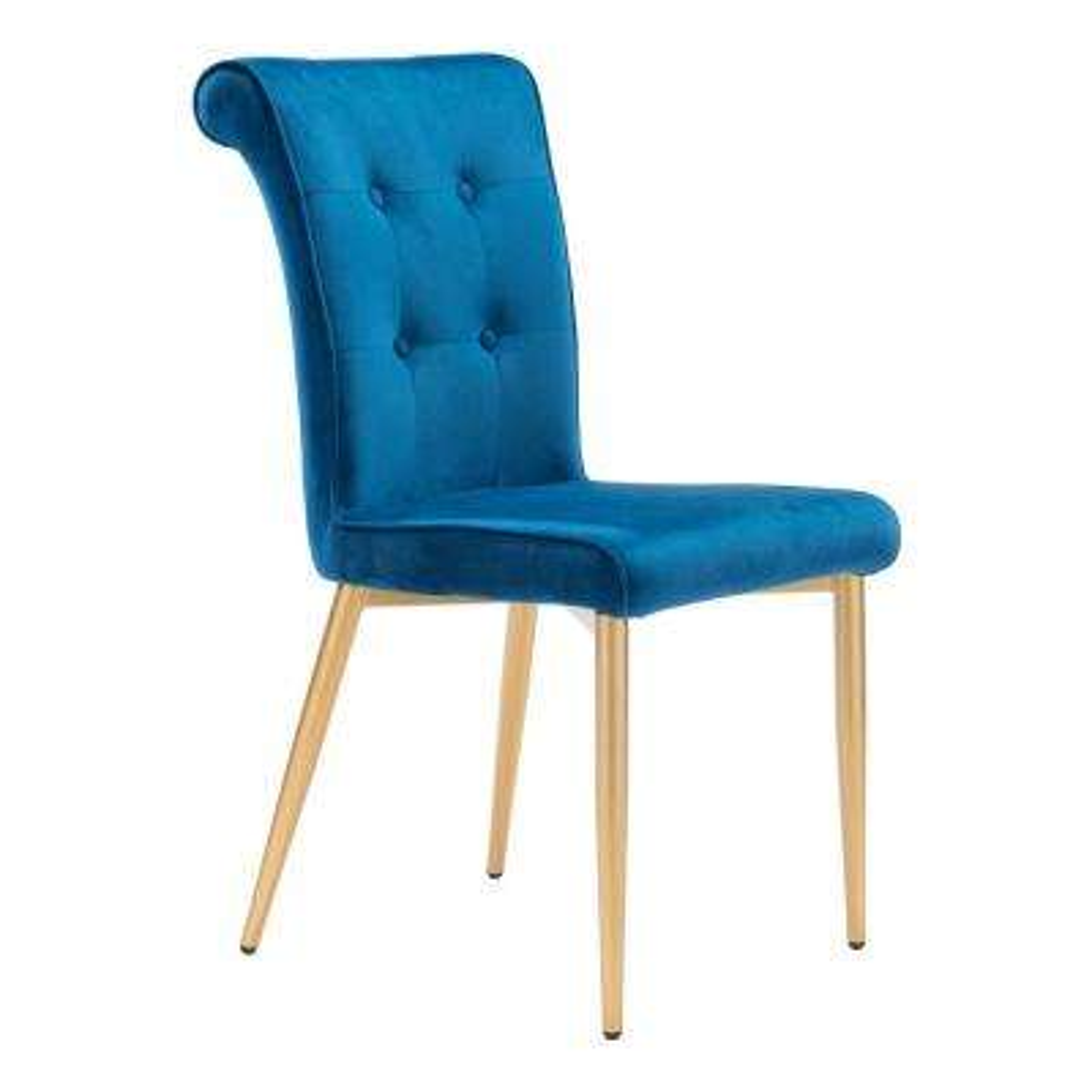 Niles Blue Velvet Dining Chair (Set of 2)