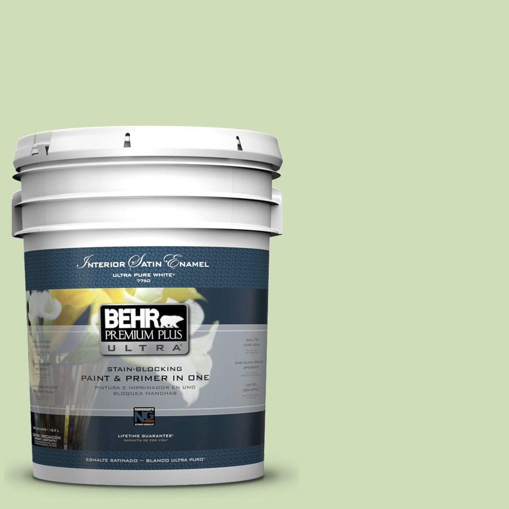 5 gal. #430C-3 Peridot Satin Enamel Interior Paint and Primer in