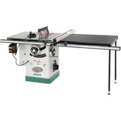 10 in. 3 HP 220-Volt Cabinet Table Saw with Long Rails and Ri-Volting Knife