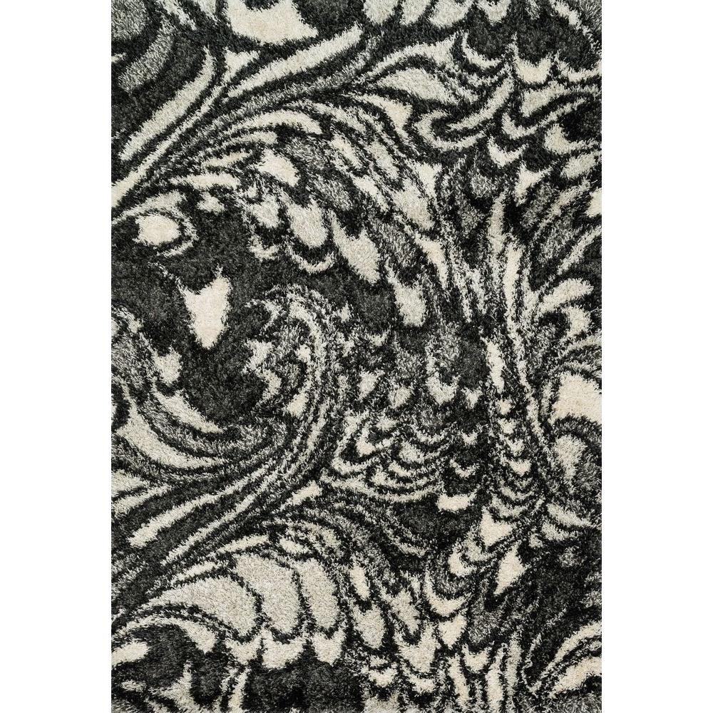Loloi Rugs Cosma Lifestyle Collection Charcoal/Ivory 5 ft. 2 in. x 7 ft. 7 in. Area Rug