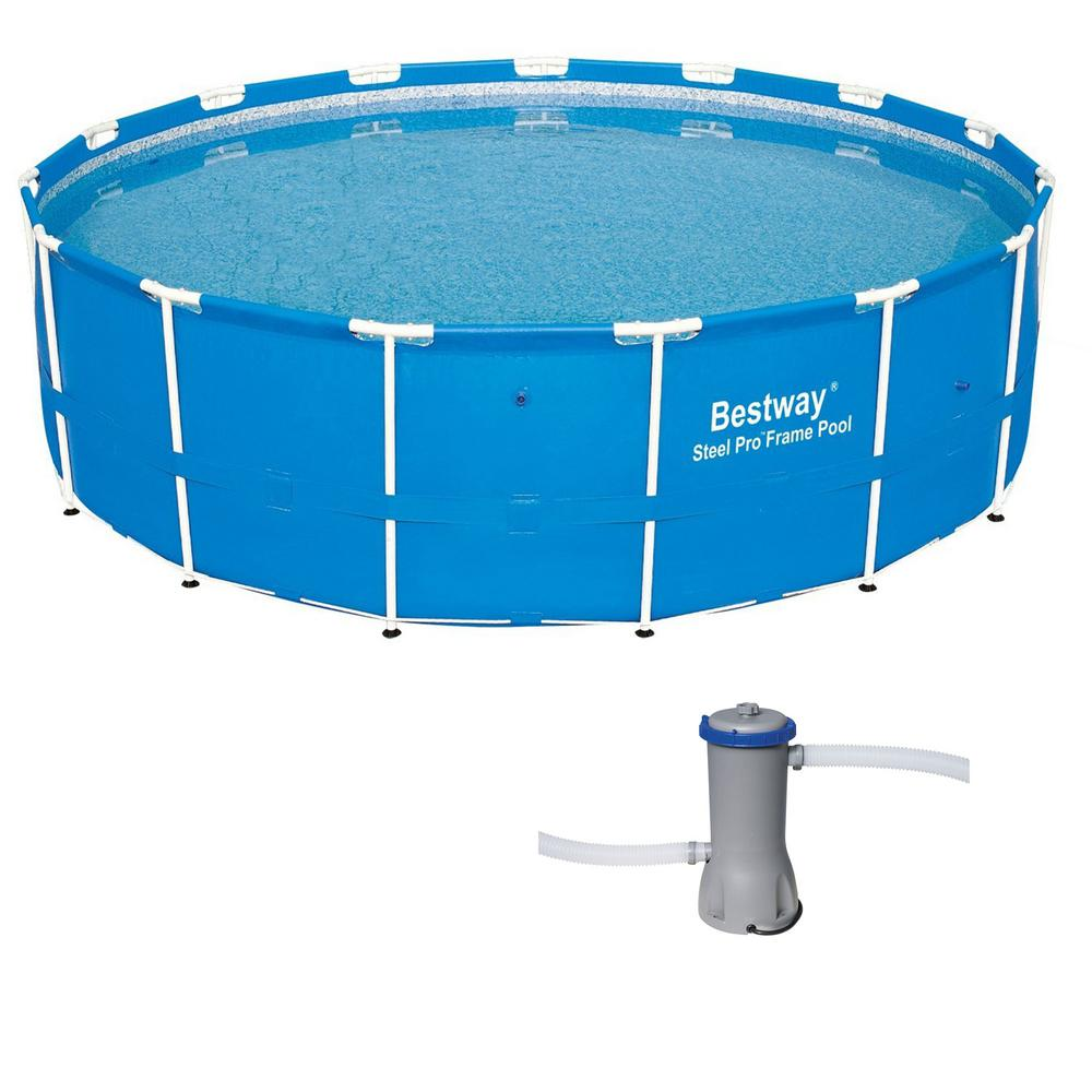 15 Ft X 4 Ft Steel Pro Frame Above Ground Pool With
