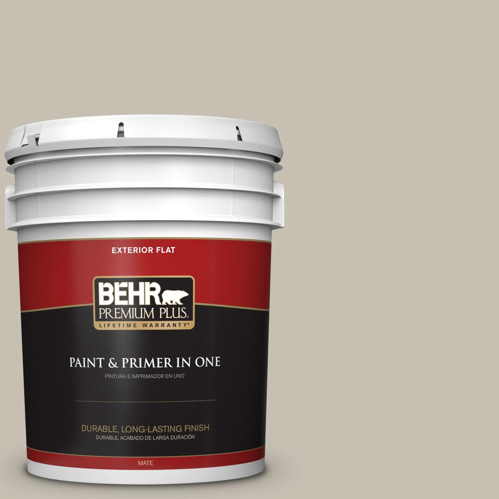 5 gal. #PPU8-17 Fortress Stone Flat Exterior Paint