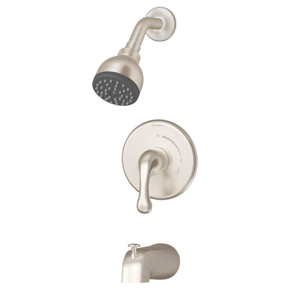 Symmons Unity Single-Handle 1-Spray Tub and Shower Faucet with Stops ...