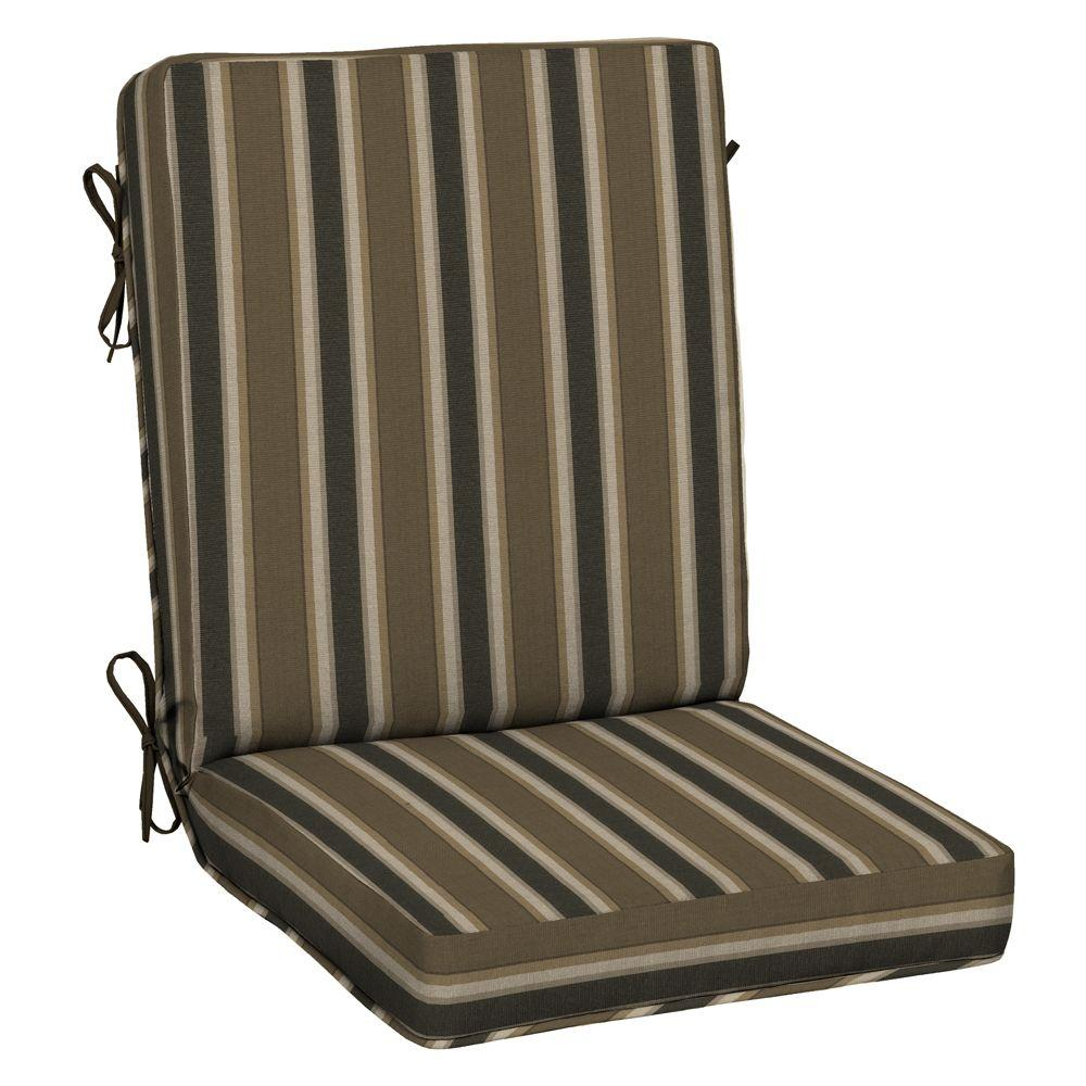 Hampton Bay 21 x 20 Outdoor Chair Cushion in Standard Rea Stripe - Hampton Bay 21 X 20 Outdoor Chair Cushion In Standard Rea Stripe