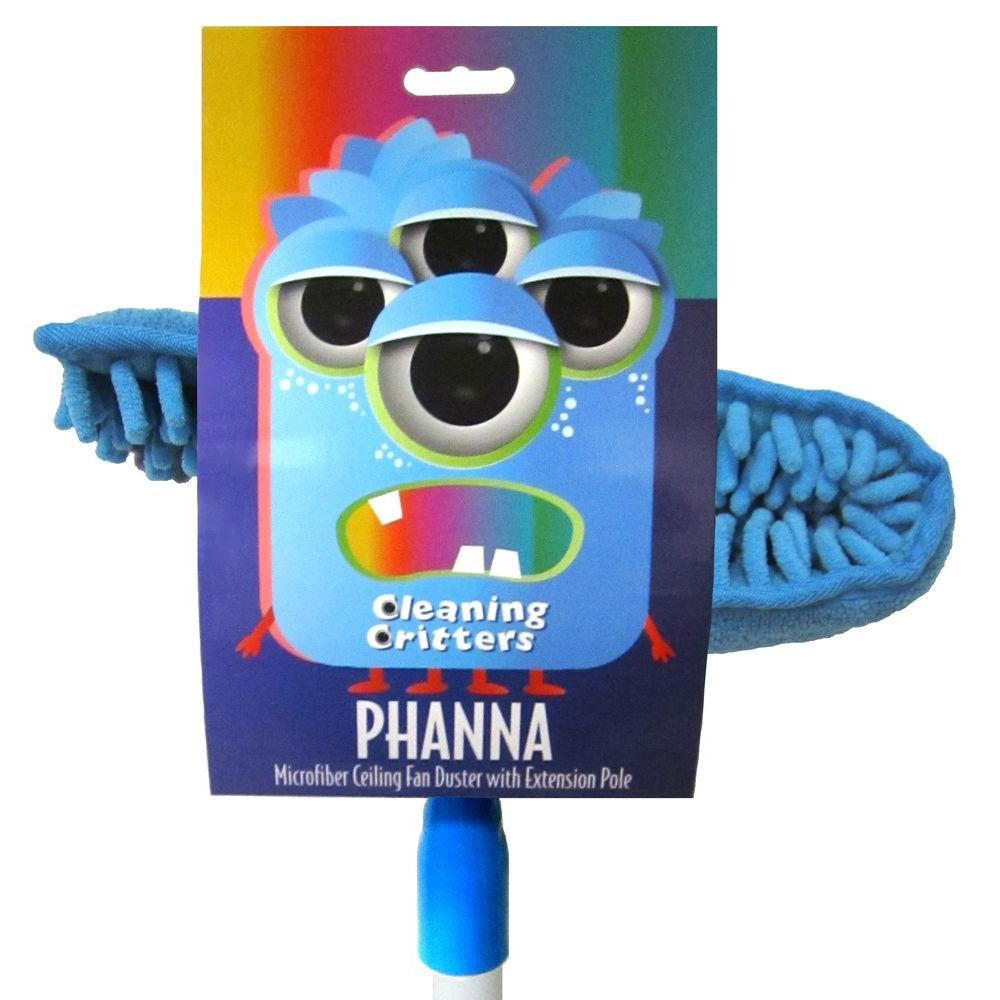 Ettore cleaning critters phanna microfiber ceiling fan duster with ettore cleaning critters phanna microfiber ceiling fan duster with extension pole 32001 the home depot aloadofball Choice Image