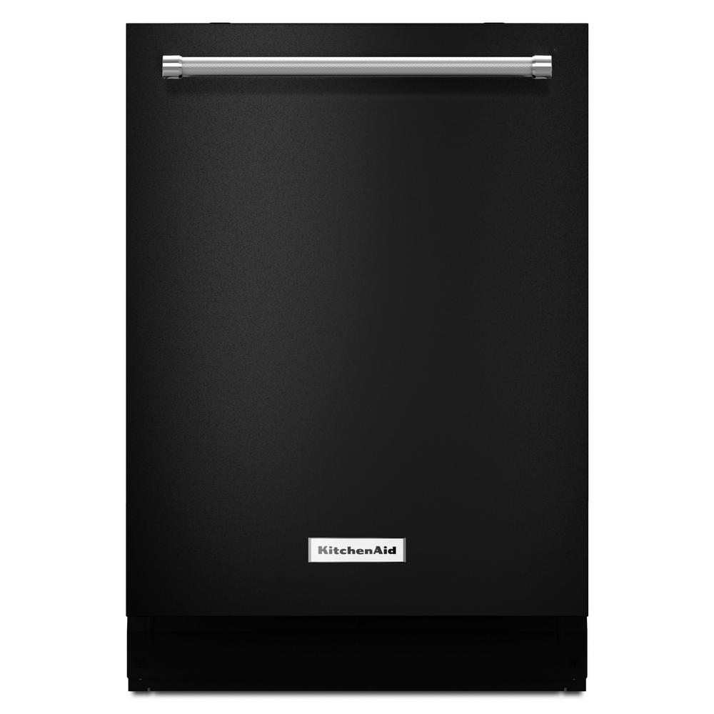 Top Control Built-In Tall Tub Dishwasher in Black with Third Level