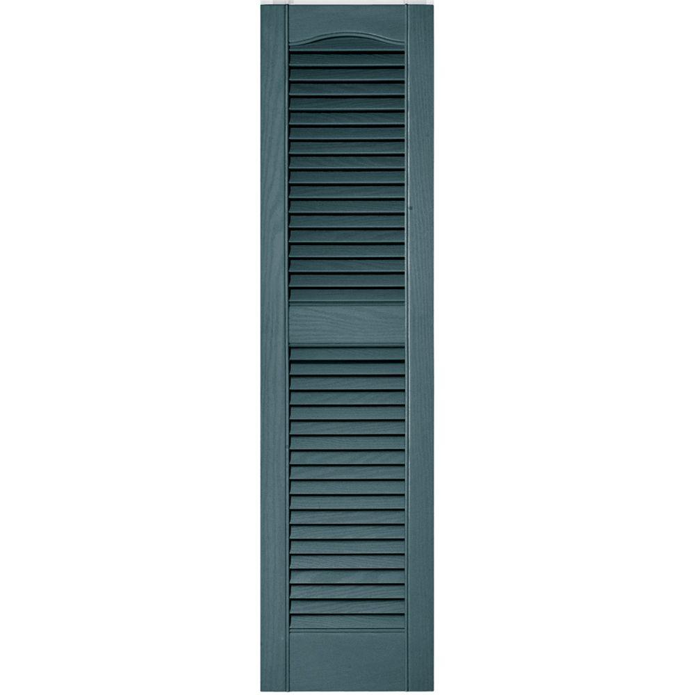 Builders edge 12 in x 48 in louvered vinyl exterior for 12 x 48 bathroom window