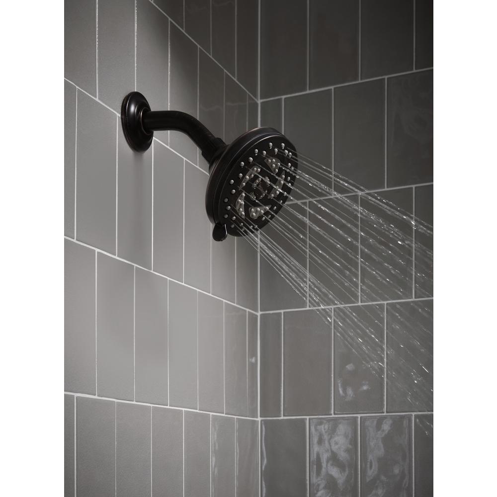 Propel 5-Spray 4.5 in. Single Wall Mount Low Flow Fixed Adjustable Shower Head in Mediterranean Bronze