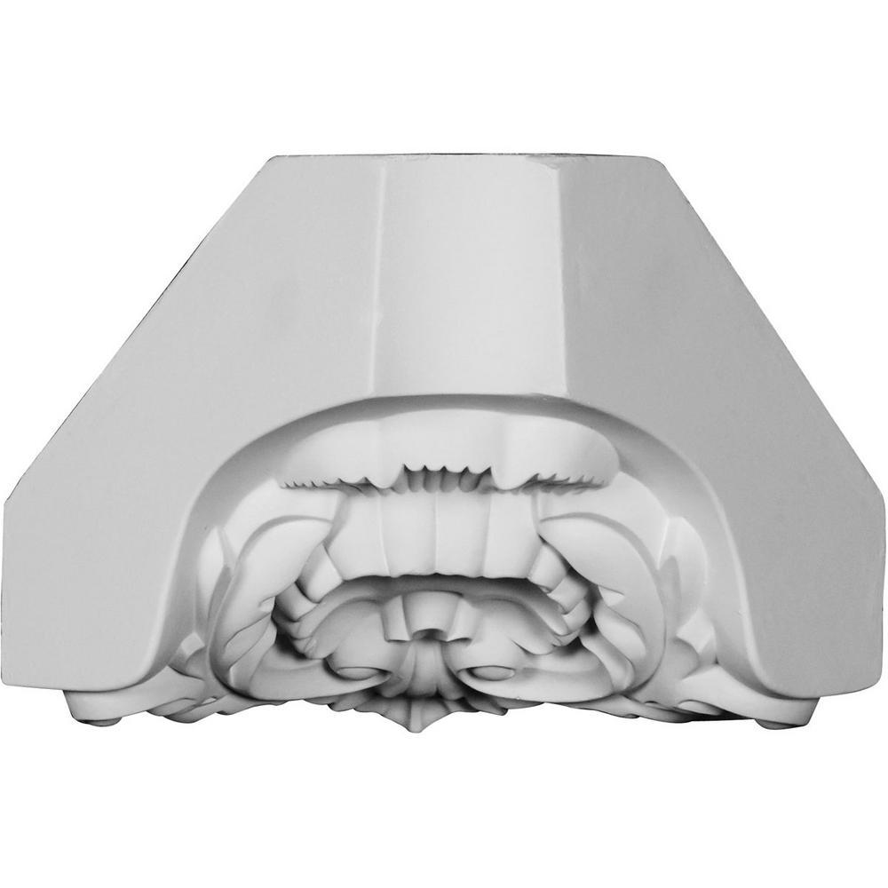 5-7/8 in. x 8-1/4 in. x 5-7/8 in. Polyurethane Shell Crown Inside Corner Block Moulding