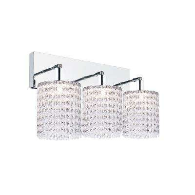 Glitz 3-Light Chrome Sconce
