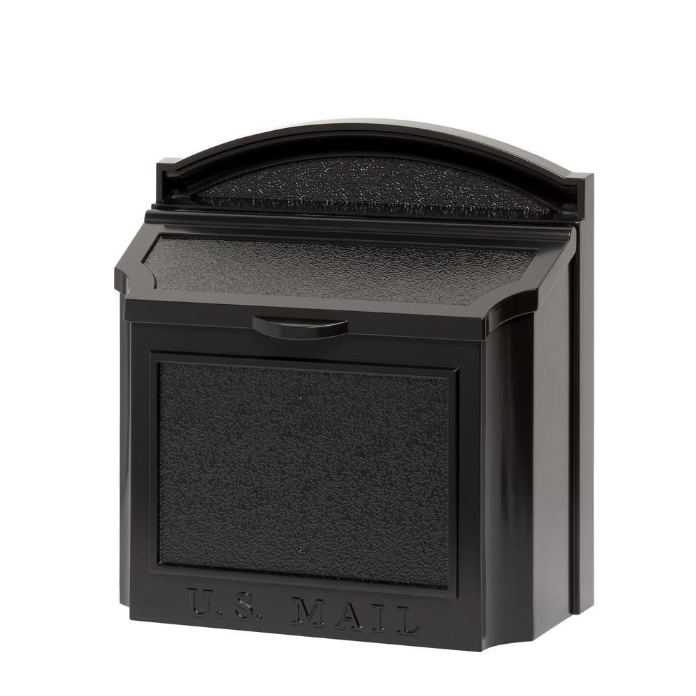 Whitehall Products Black Wall Mailbox 16140 The Home Depot