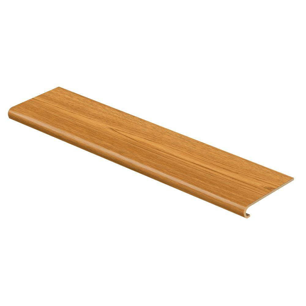 Cap A Tread Oak Amber 94 in. Long x 12-1/8 in. Deep x 1-11/16 in. Height Vinyl to Cover Stairs 1 in. Thick
