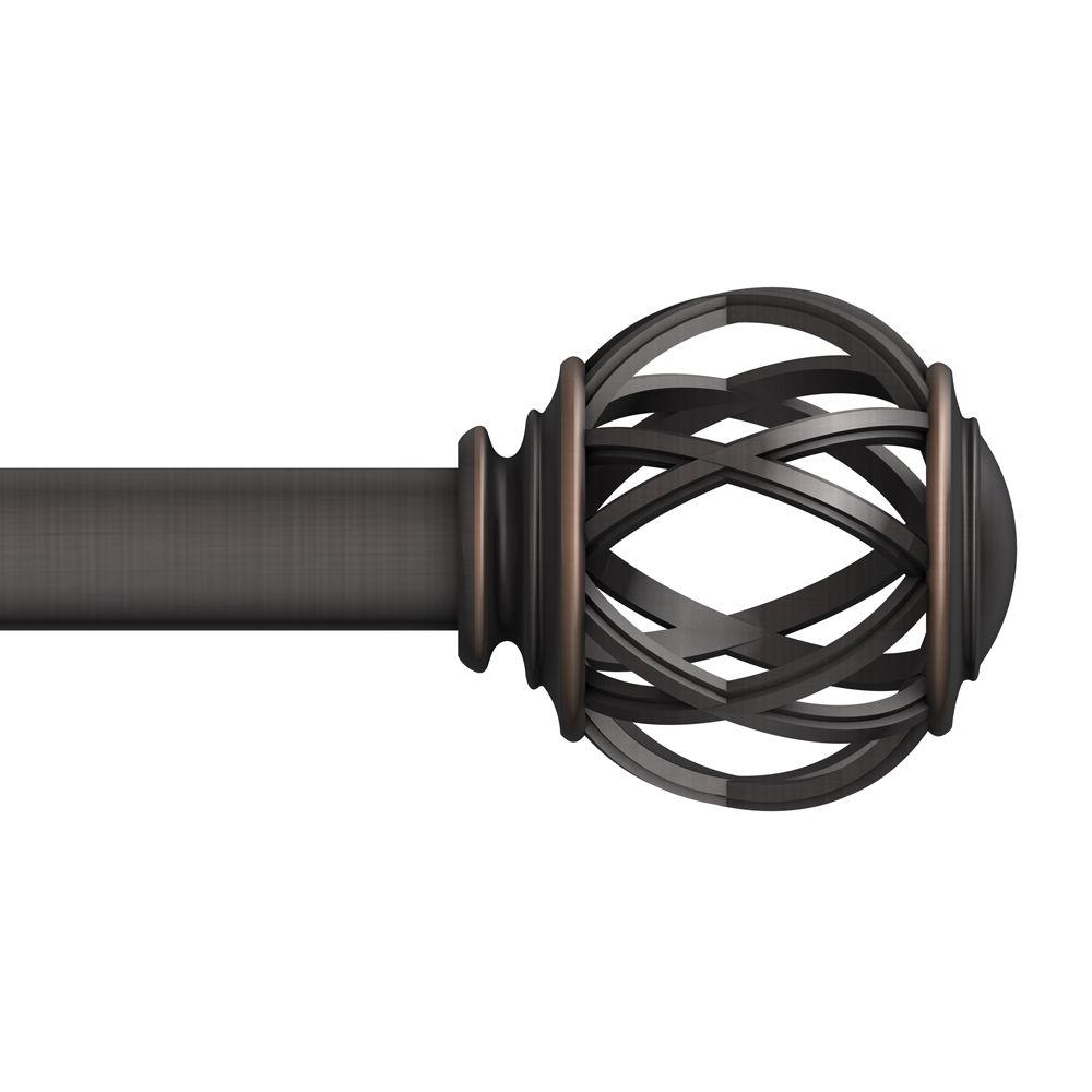 1 in. Cage Finial in Oil Rubbed Bronze (2-Pack)