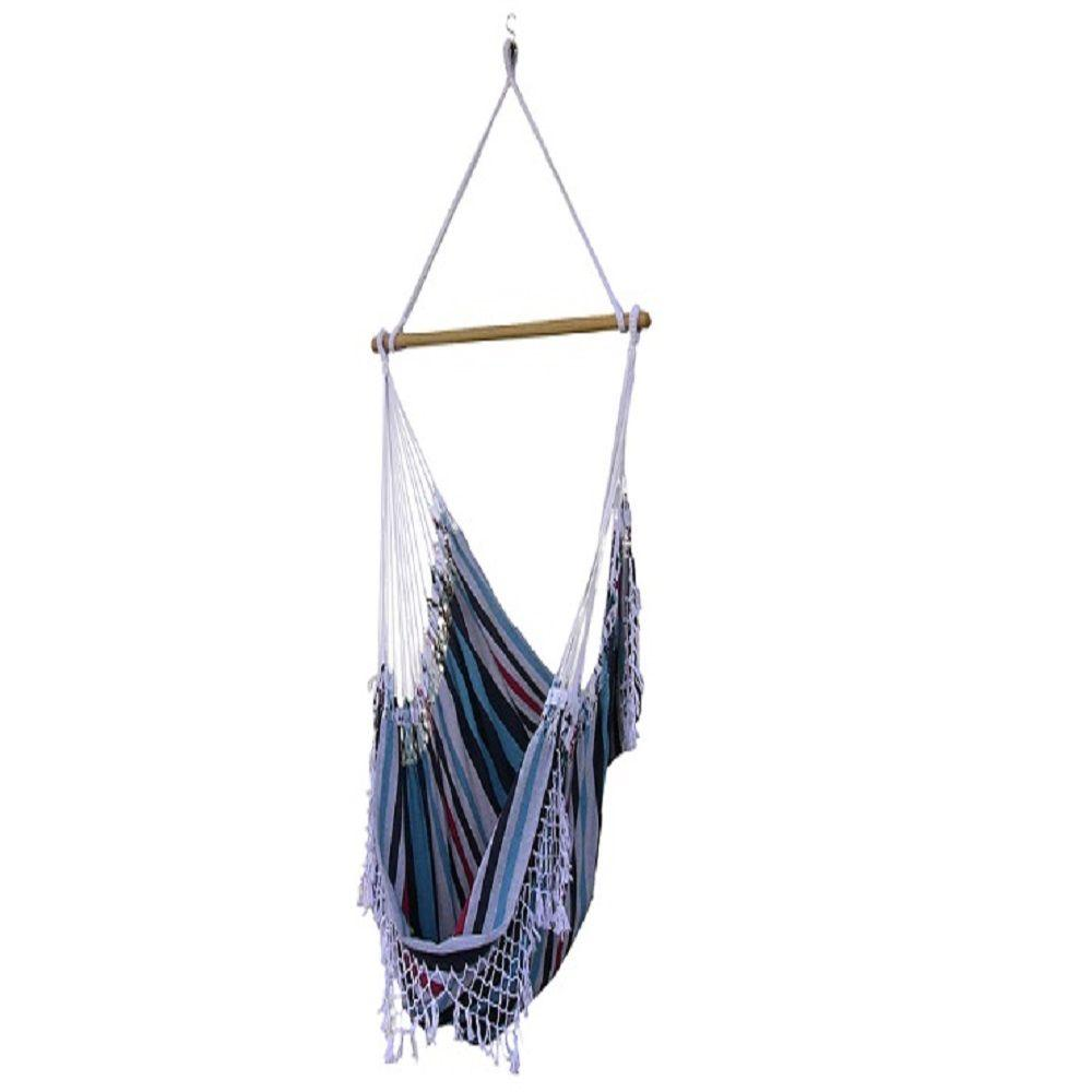 2.5 ft. Brazilian Style Cotton Hammock Chair in Denim