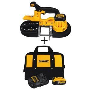 Dewalt 20-Volt Lithium-Ion Cordless Band Saw with Bonus 5.0 Ahr Battery Starter Kit by DEWALT