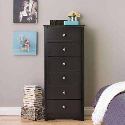Sonoma 6-Drawer Black Chest