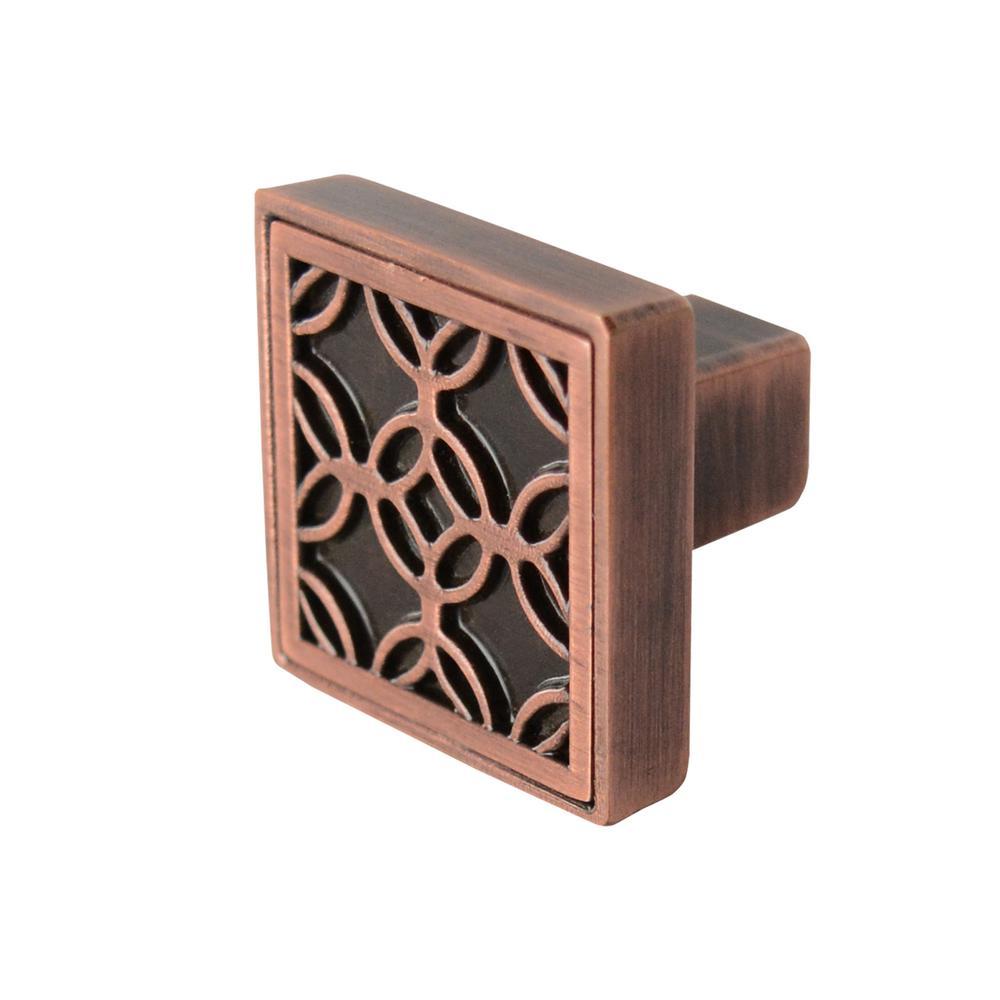 Richelieu Hardware 1 7 32 In Antique Copper Cabinet Knob