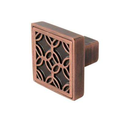 Frank Lloyd Wright Collection Luxfer 1-5/32 in. Antique Copper Cabinet Knob