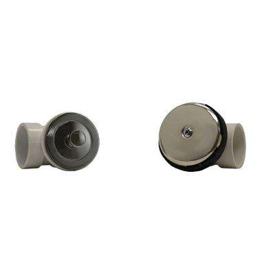 Twist and Close 1-1/2 in. Sch. 40 White PVC Bath Waste and Overflow Drain Plumbers Kit in Chrome