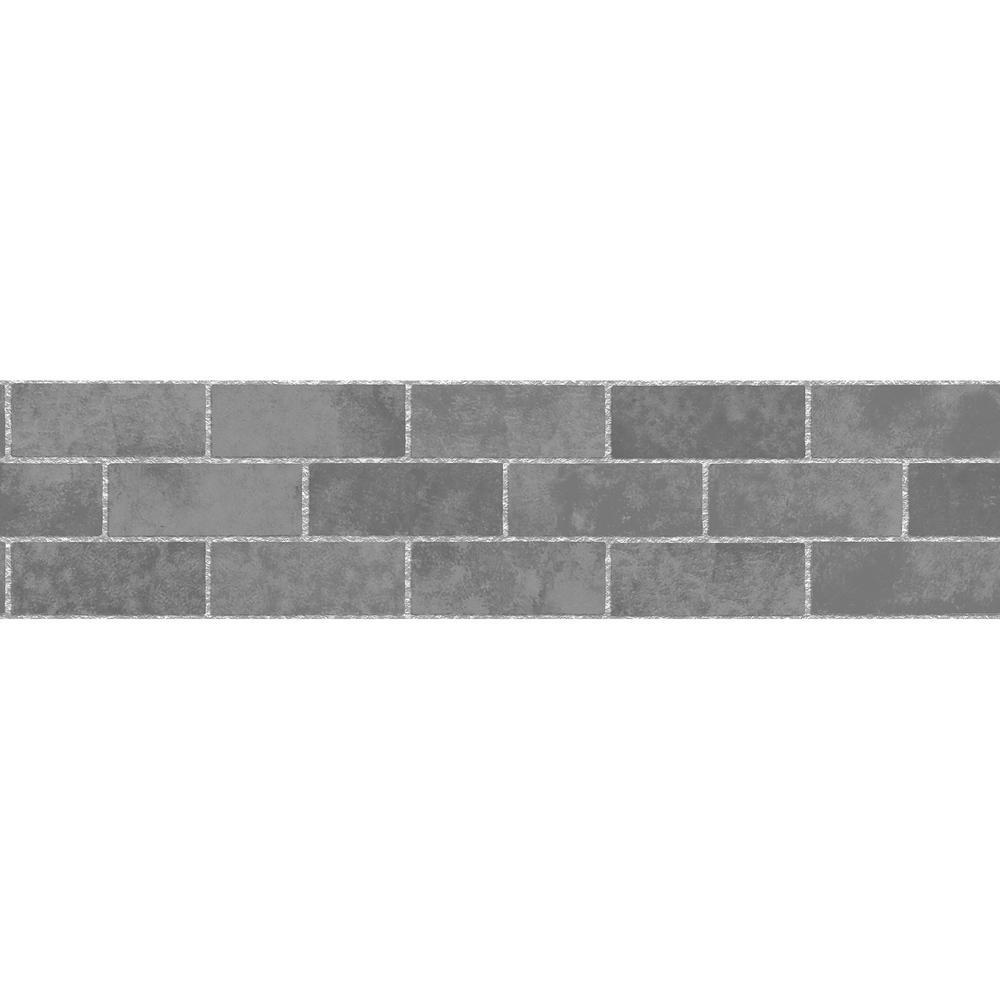Brewster Stone Tile Peel and Stick Wallpaper Border-TFDB50028 - The ...