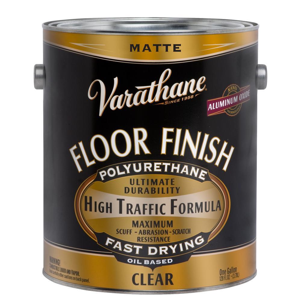 Varathane 1 gal. Clear Matte Oil-Based Floor Finish Polyurethane (2-Pack)