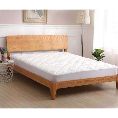 Cooling Knit Fabric Twin Mattress Pad