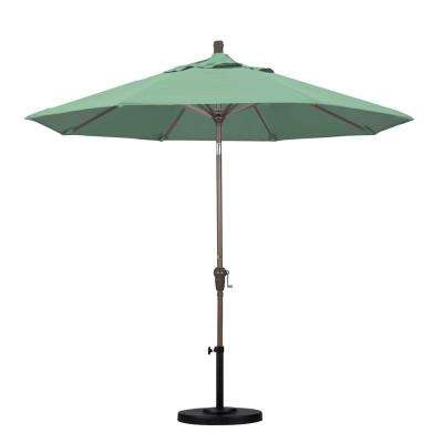9 ft. Aluminum Auto Tilt Patio Umbrella in Spa Pacifica