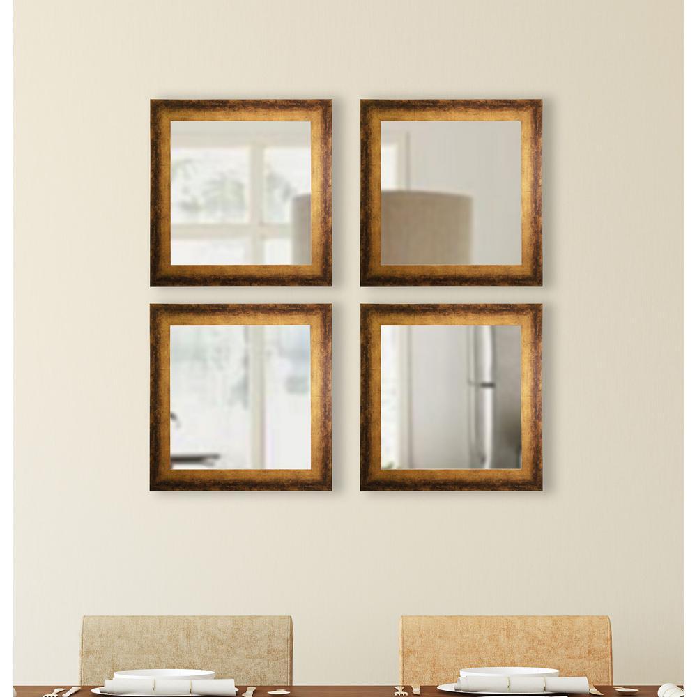 175 In X 175 In Tarnished Bronze Square Vanity Mirror Set Of 4