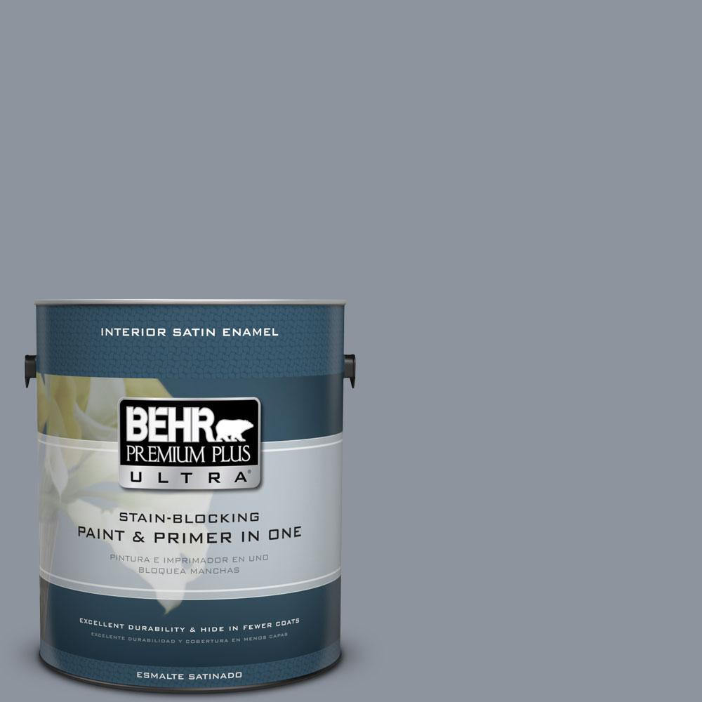 1-gal. #BXC-88 Cool December Satin Enamel Interior Paint
