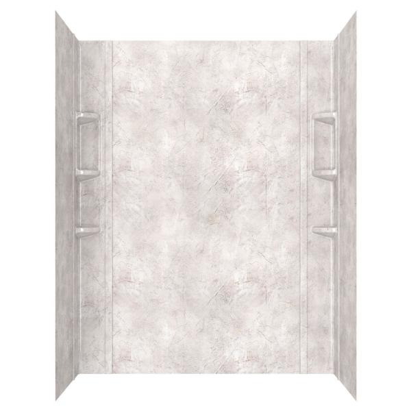 Ovation 32 in. x 60 in. x 72 in. 5-Piece Glue-Up Alcove Shower Wall Set in Beige Parchment