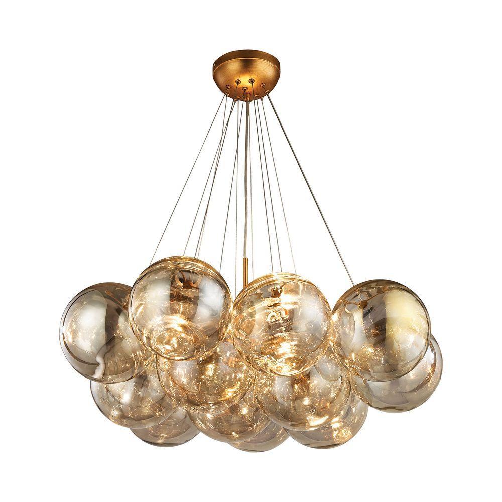 34b55bead7f Gold - Titan Lighting - Lighting - The Home Depot