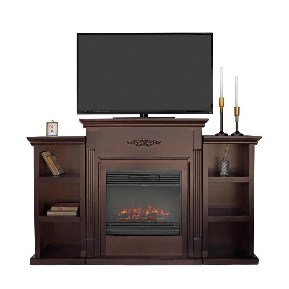 Entertainment Media Console Open Shelves Elegant Organization TV Stand in Espresso