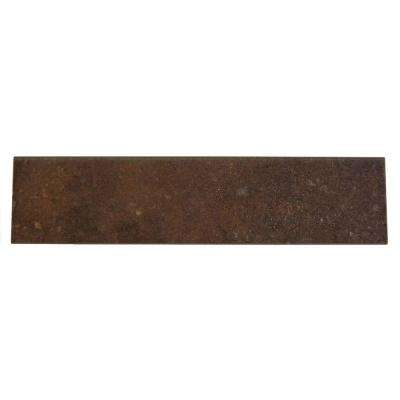 Terra Antica Rosso 3 in. x 12 in. Porcelain Surface Bullnose Floor and Wall Tile